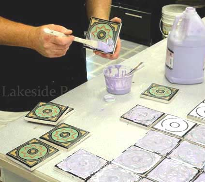 Glazing Tiles Custom Work Making Ceramic