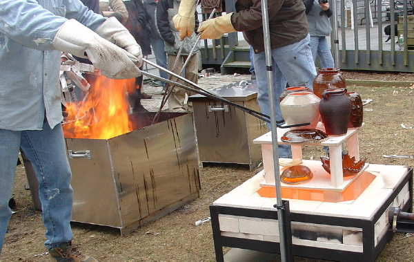 Raku Firing Main Page - Lakeside Pottery a pottery / ceramic