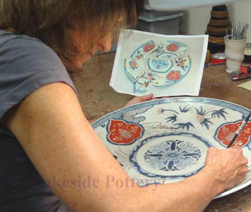 Painting and Glazing Repaired Ceramic or Sculpture.