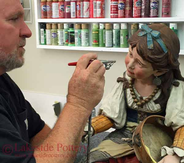 Painting and Glazing Repaired Ceramic or Sculpture - lesson