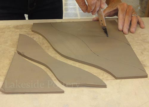 Quilting With Clay Hand Building Slab Hanging Art Project
