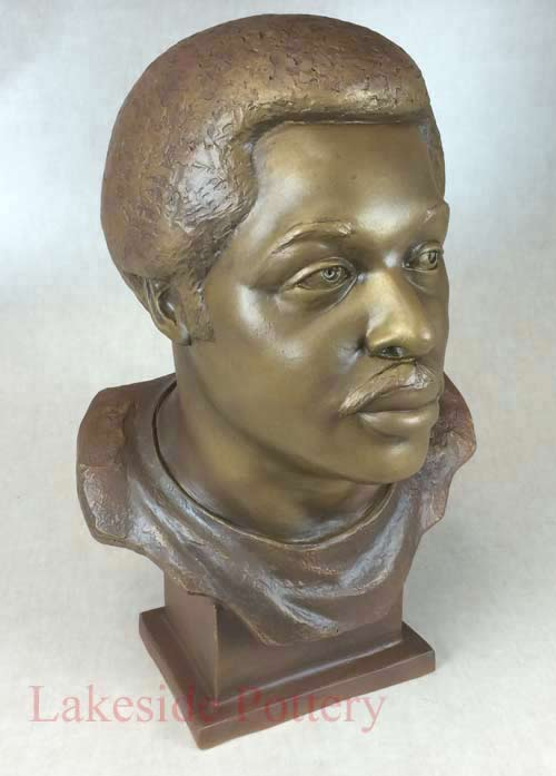 Deacon Jones head figure - restored