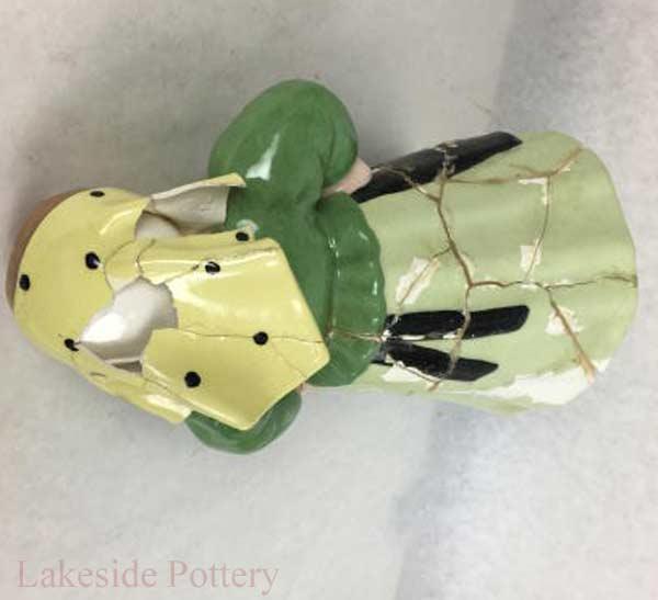 Heavily Damaged Antique Handmade Figurine Repair