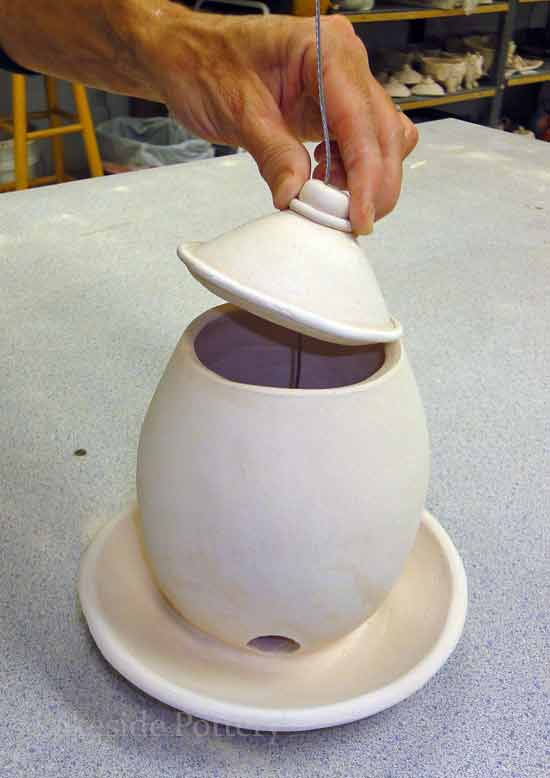 Stoneware Hand Built Birdfeeder Project