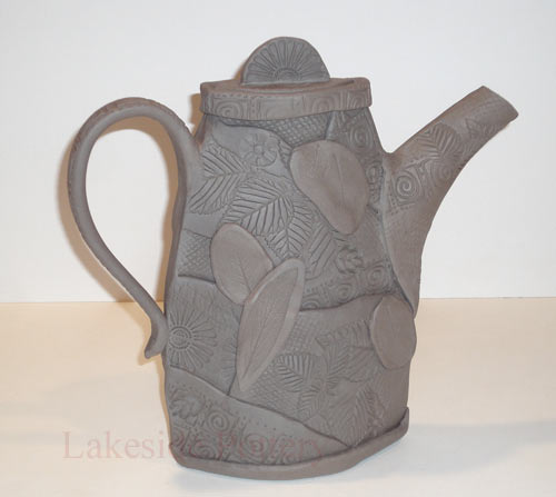 Owl Planters Slab Quilting Textured Clay Patch Work Teapot