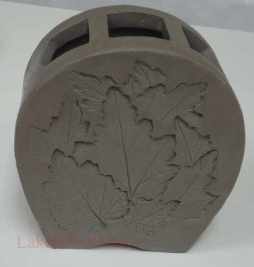 Slab Vase With Leaves Impression Project