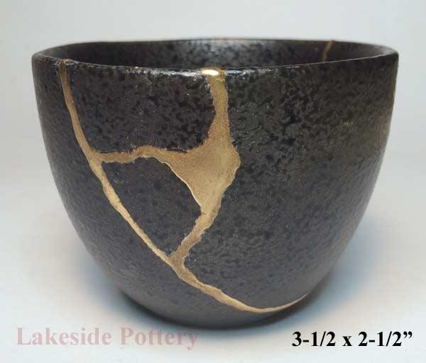 Wabi Sabi Repairing Broken Pot With Kintsugi Effect