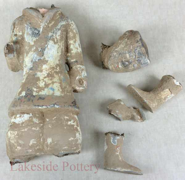 Ancient Chinese Tang Dynasty broken ceramic sculpture