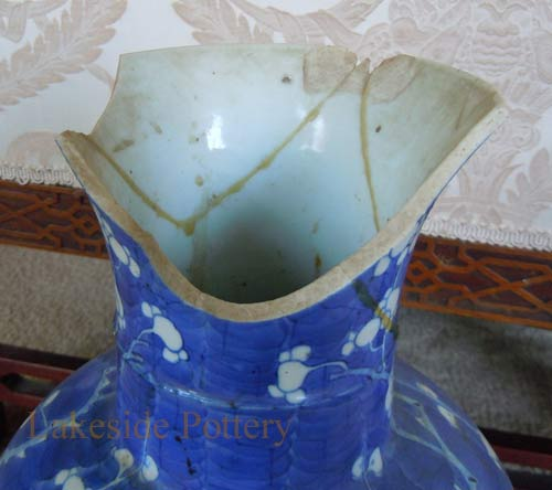 Broken antique vase