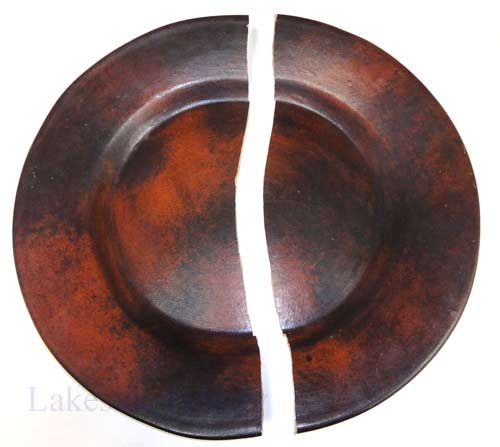Broken -terra cotta large decorative hanging platter
