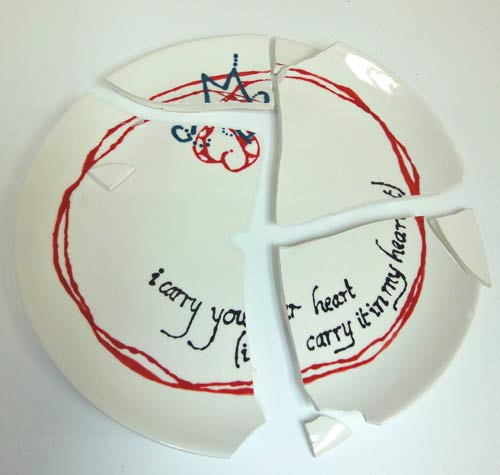 Broken wedding plate