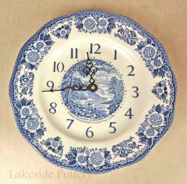 ceramic Wedgewood plate / clock reapired