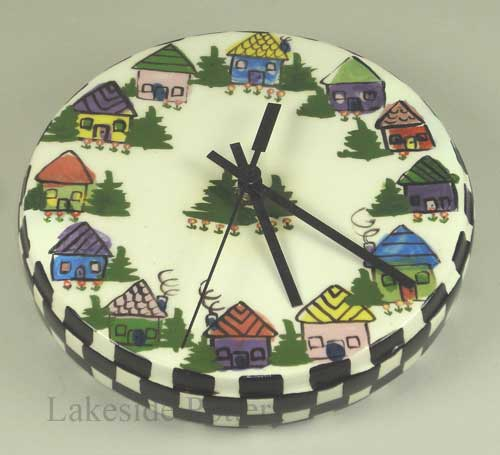 Novelty ceramic clock repaired