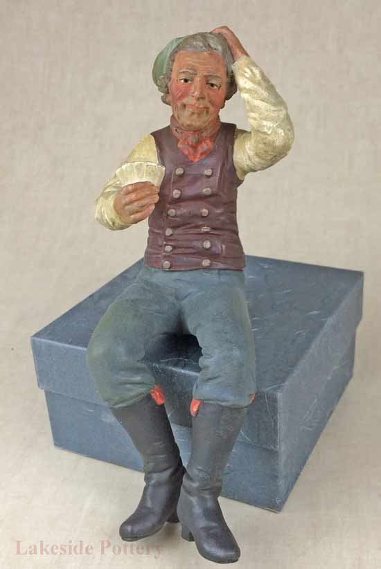 Early American ceramic figure / toy restored