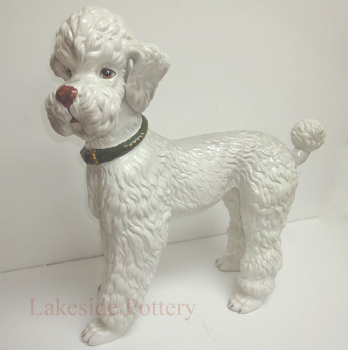 restored ceramic poodle