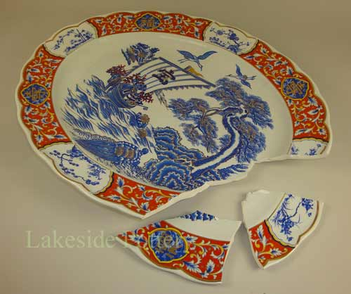 broken antique porcelain chinese plater