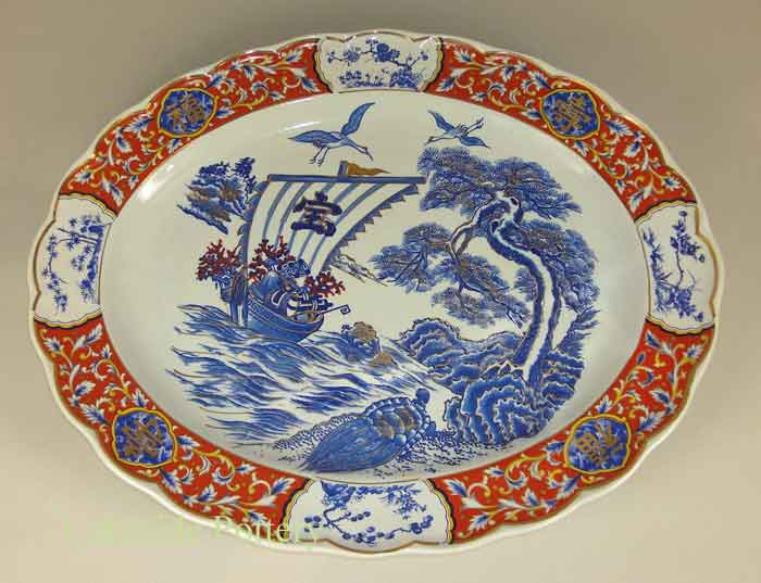 chinese porcelain platter restored