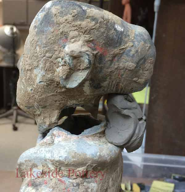 Ancient Chinese Tang Dynasty broken statue