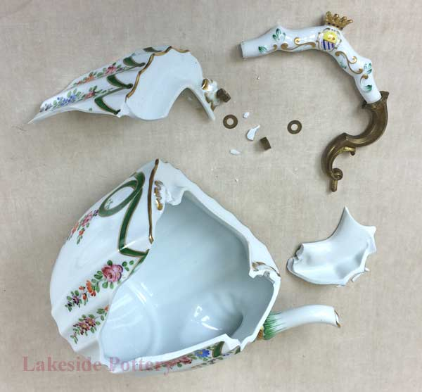 Broken English tea pot