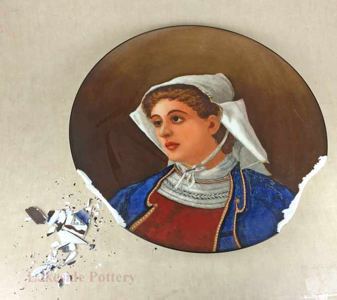 1880 antique hand painted plate