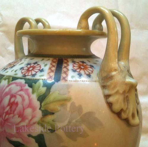 Nippon vase with new handle