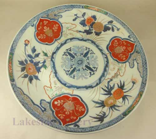 Antique Japanese Imari plate restored