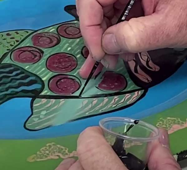 Painting touch up using acrylic