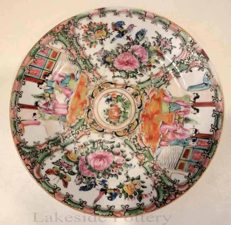 Cementing, filling, coloring and glazing broken antique plate